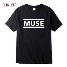 XIN YI ผู้ชาย Quality100 % ผ้าฝ้ายคุณภาพสูงพิมพ์ตัวอักษรเสื้อยืด Muse Rock Band เสื้อยืด O-Neck Hip Hop Tops