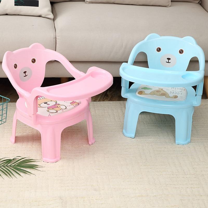Sillas de alimentación para niños y niños para jardín de infantes y sofá sillas de Mesa de Seguridad antideslizantes de dibujos animados para bebés