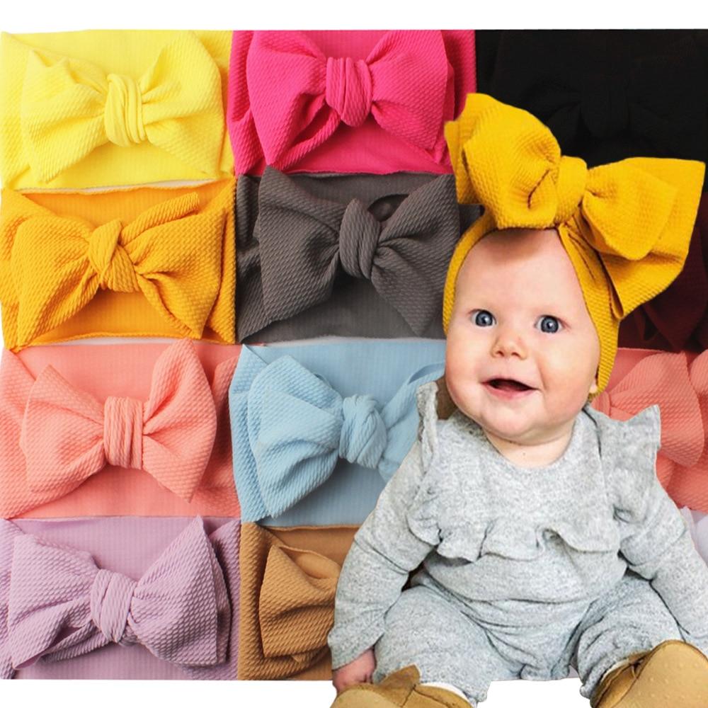 Bebé diadema lazo hecho a mano DIY bebé Niños Accesorios de cabello para chica moños para recién nacidos bowknot vendaje diadema de turbante