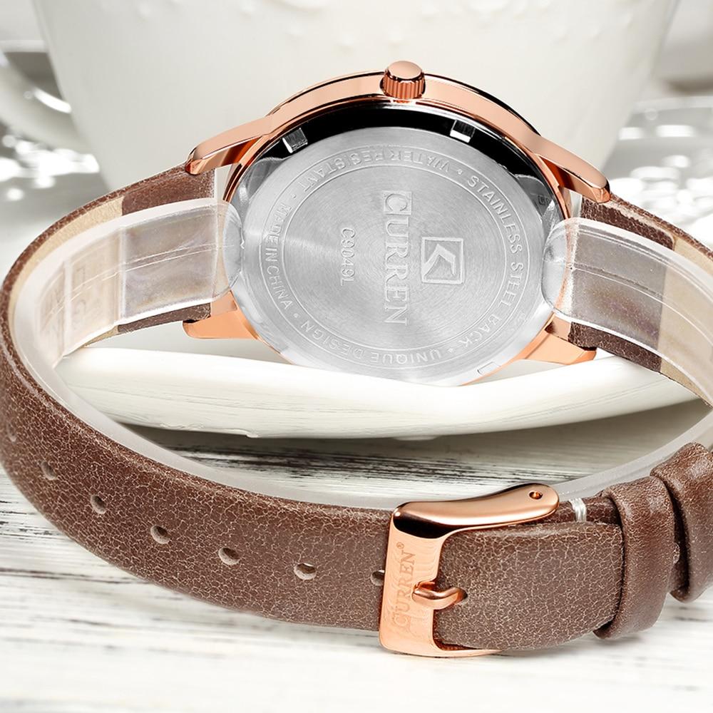 Watches Women CURREN Fashion Creative Analog Quartz Wrist Watch Waterproof  Business Casual Leather Ladies Clock Reloj Mujer enlarge