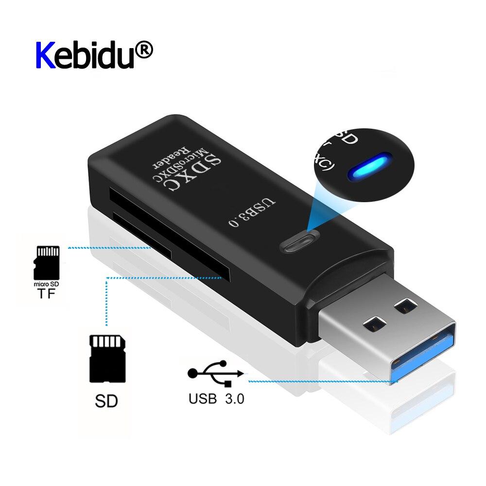 Mini leitor de cartão, adaptador usb 3.0 sd/micro sd tf otg inteligente de cartão de memória para laptop usb 3.0 multi leitor de cartão inteligente sd cardreader