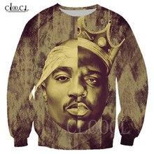 Rapper 2pac Tupac/Biggie Smalls Unisex Sweatshirt 3D Print Mens Women Sportswear Fashion Sweatshirts Couple Streetwear Pullovers