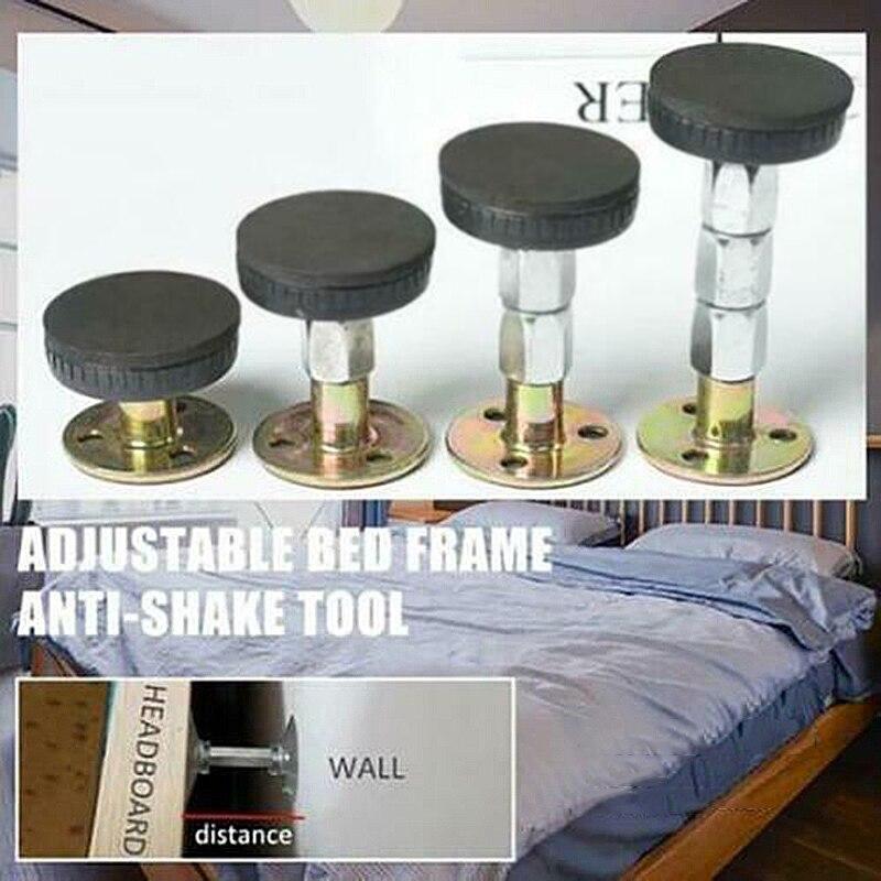 Soporte telescópico para pared de habitación con marco de cama con rosca ajustable