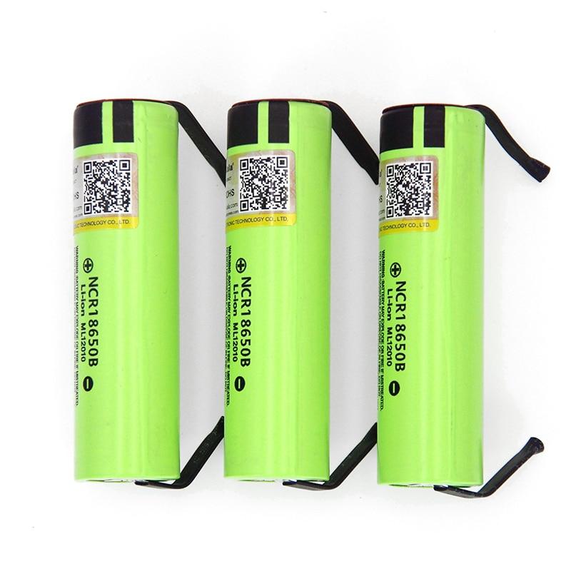 6-30PCS Liitokala new original NCR18650B 3.7V 3400mAh 18650 rechargeable lithium battery for  battery+DIY nickel piece