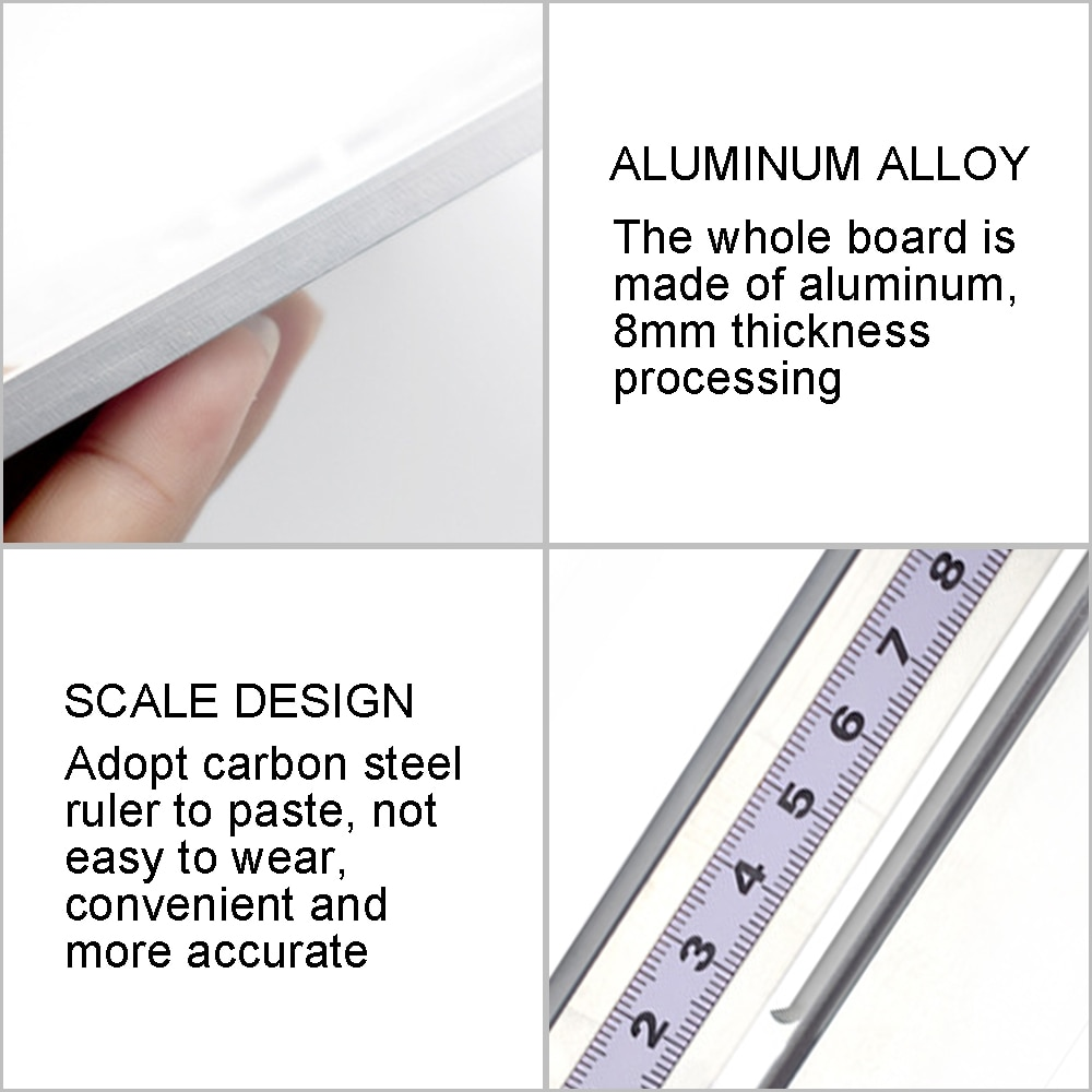 Aluminium Router Table Insert Plate Electric Wood Milling Flip Board With Miter Gauge Guide Table Saw Woodworking Work Bench enlarge