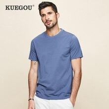 KUEGOU 2021 New Summer T-shirt Men Slim Basic Short Sleeves Modal Tshirt  RunningBreathable Cool Top Elastic Plus Size 5939