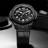 cadisen new mechanical watch men sports 100m waterproof luxury brand japan nh35a carbon cellulosic automatic watch reloj hombre