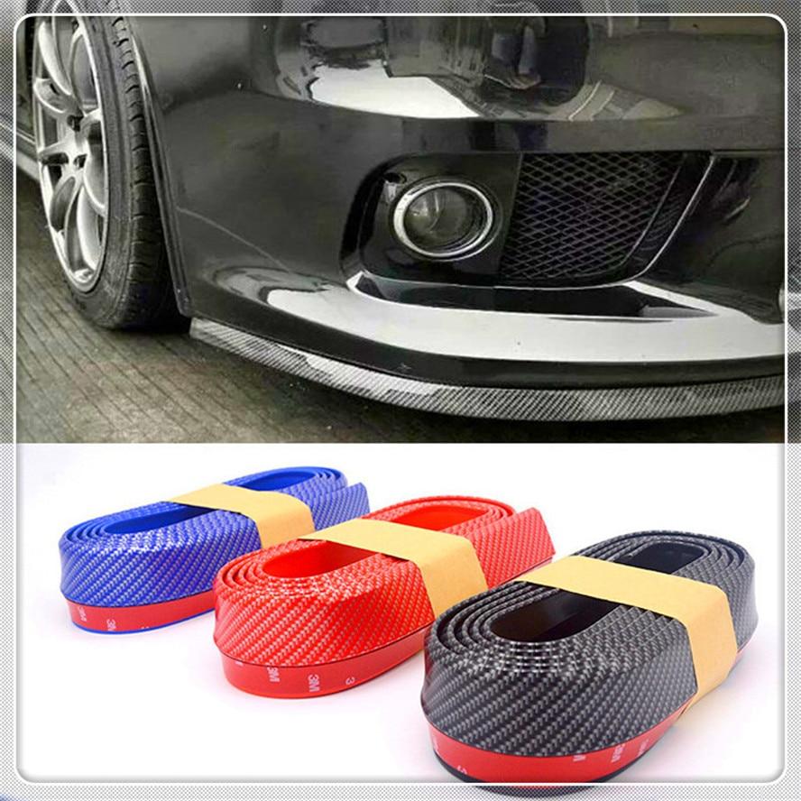 Tiras de labios de coche, separador de alerón, parachoques de puerta de fibra de carbono de goma para Honda City OSM FC pequeño PUYO Element Step REMIX CRV
