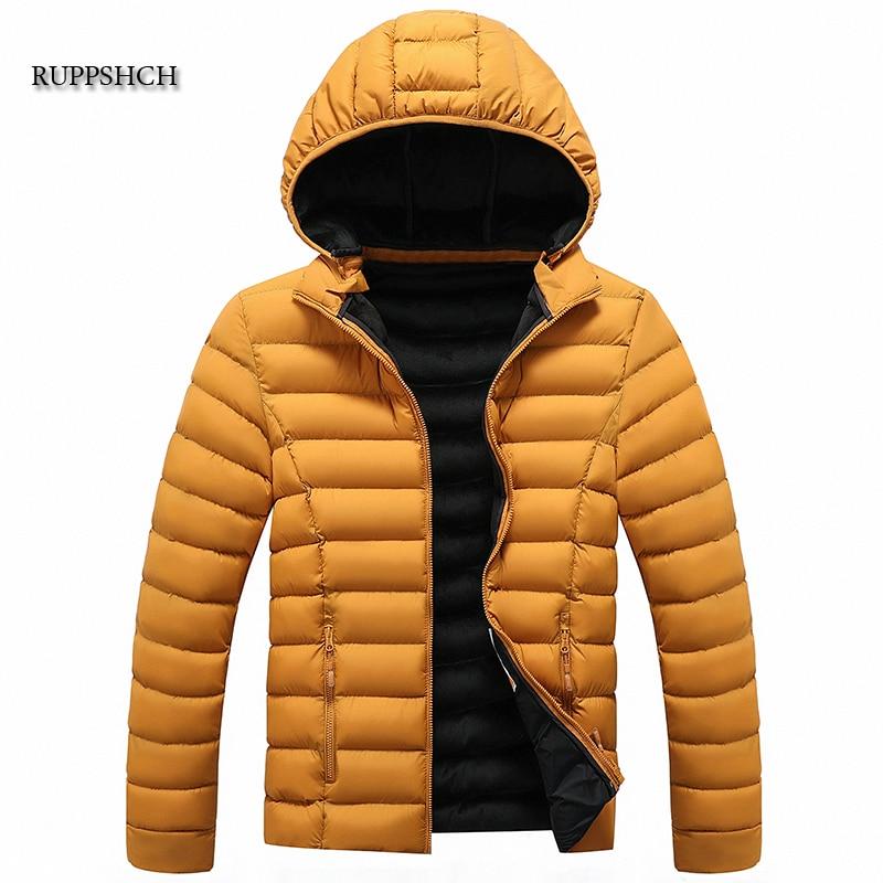 Ruppshch Autumn Winter Warm Casual Jacket Parka Coat Men Splicing Street Men Parka Coat Windproof Th