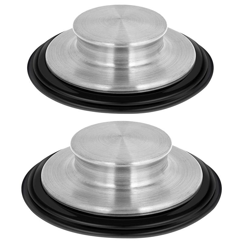 2 PC Küche Sink Stopper Edelstahl Müll Entsorgung Stecker Küche Waschbecken Stecker Passt Standard Größe von 3,5 Zoll Durchmesser