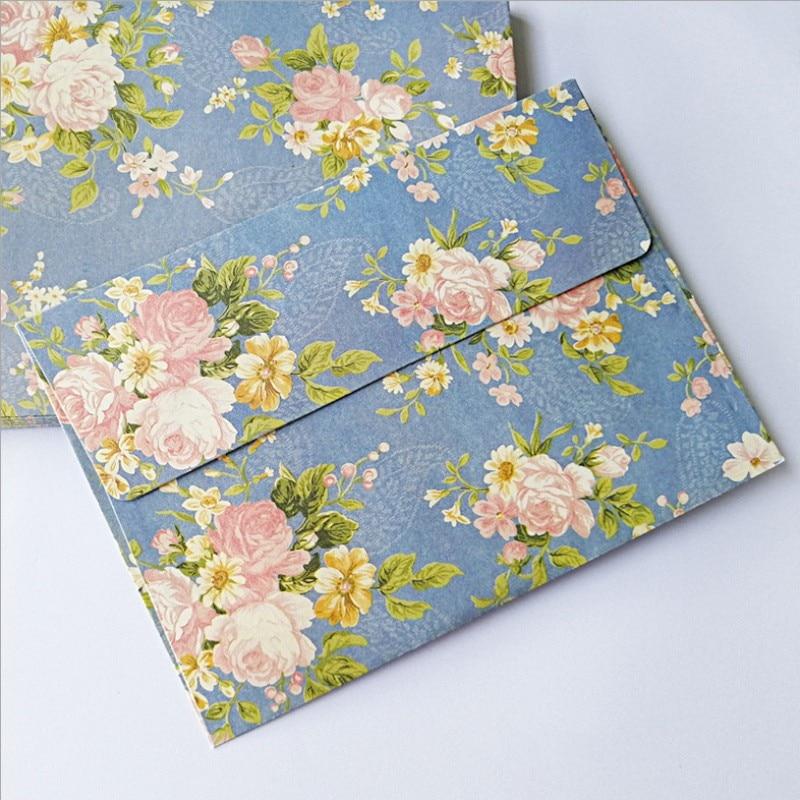 100 шт оптом пасторальный элегантный цветочный конверт в китайском стиле ретро Вишневый цветок Роза письмо Бумага Ремесло 175*125 мм