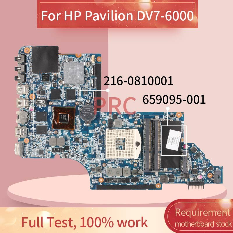 659095-001 659095-601 ل HP جناح DV7-6000 اللوحة المحمول HM65 216-0810001 DDR3 مفكرة اللوحة