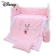 Disney Cotton Baby Crib Bedding Sets Baby Quilt Kid Bed Crib Set Cotton Splicing Crash Bumpers 0-3Y Soft Don't Clip Hand Fashion