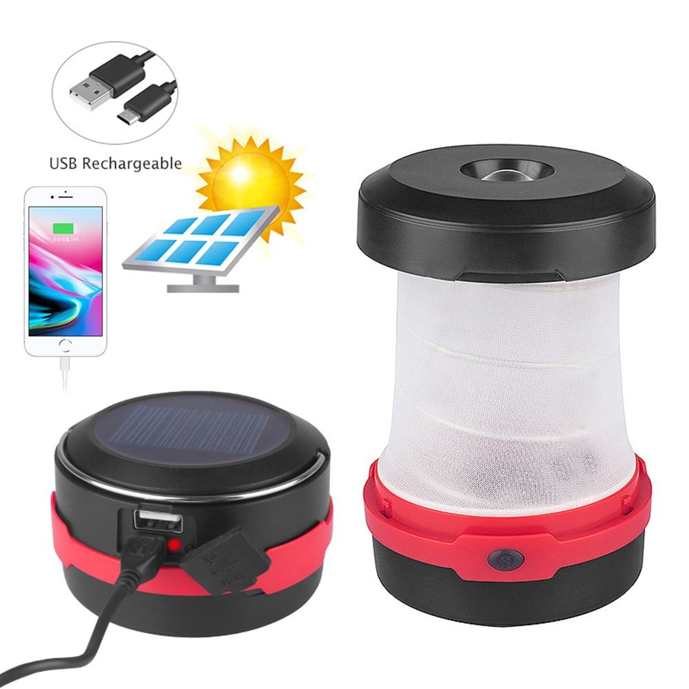 Портативный мини фонарь для кемпинга на солнечной батарее 3 Вт светодиодный