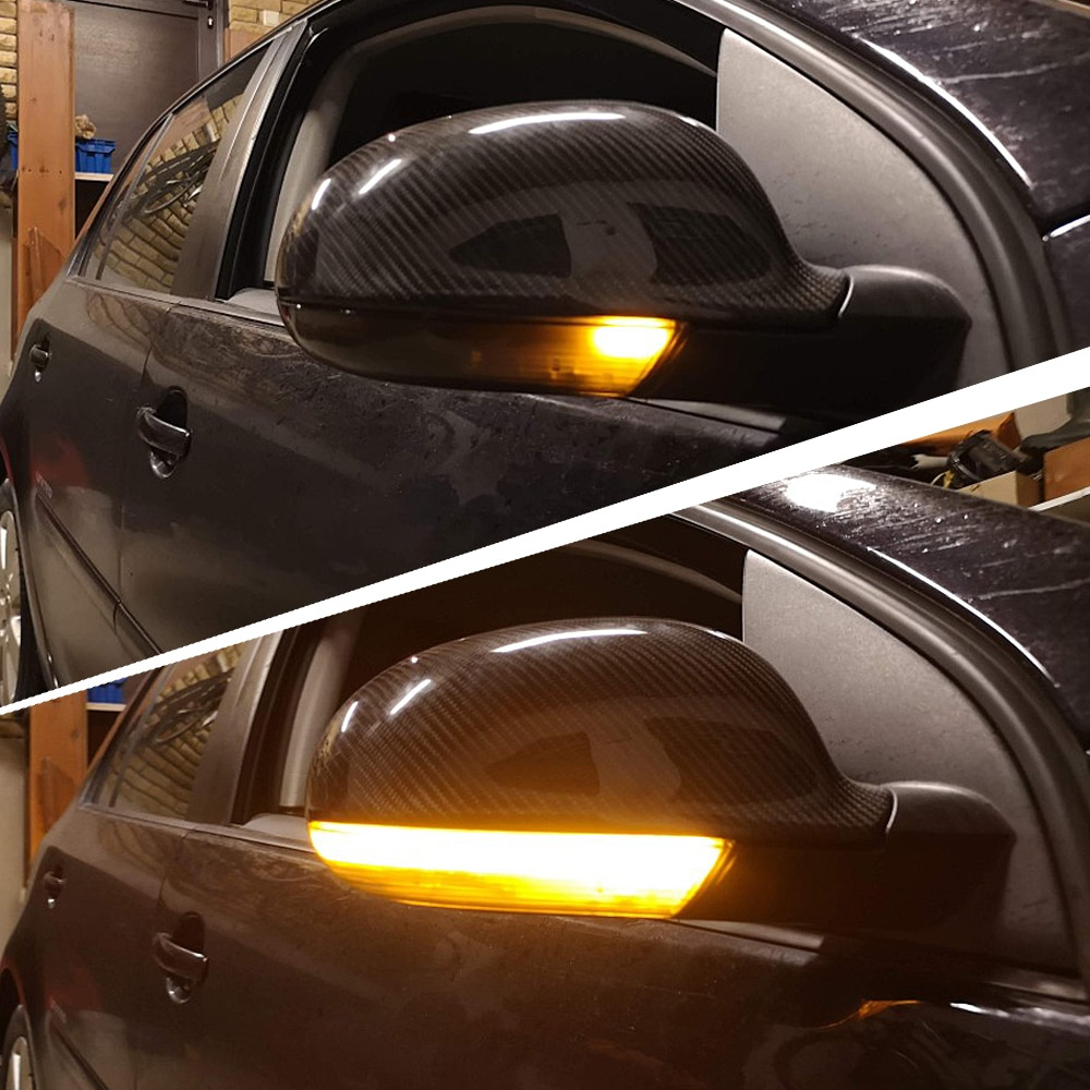 Luz LED intermitente dinámica negra para VW GOLF 5 GTI Variant Jetta MK5 Passat B5.5 B6 Plus GT Sharan EOS, SuperB, luz de espejo