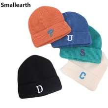 Baby Boys Girls Letters Hat Casual Warm Knitted Hats Children Autumn Winter Cotton Caps Kids Beanies