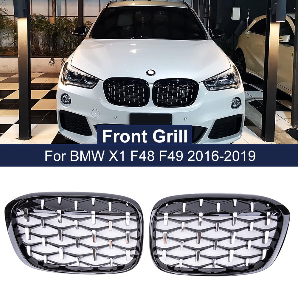 1 pair new design f90 m5 diamonds grille grill meteor style abs gloss black fits for bmw m5 look f90 front kidney grills 2019 in Geetha Car Diamond Front Kidney Grille Racing Grill For BMW X1 F48 F49 2016 2017 2018 2019 Meteor Style Grills Car Styling Parts