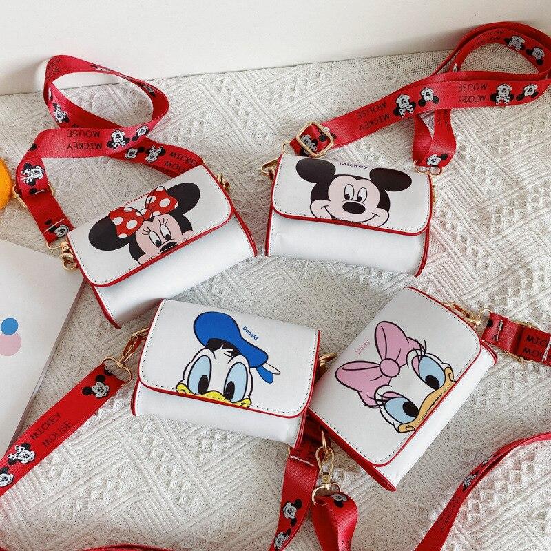 Disney children's small bag new mini shoulder bag cartoon Mickey baby coin purse girl crossbody bag
