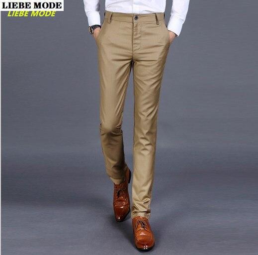 Мужские черные, серые, хаки, синие облегающие строгие брюки, мужские облегающие деловые повседневные брюки, деловые брюки для мужчин