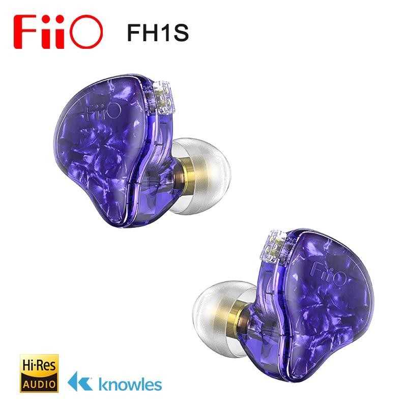 FiiO-سماعة رأس داخل الأذن FH1s Hi Res 1BA 1DD(Knowles 33518,13.6 مللي متر ديناميكي) IEM مع كابل قابل للفصل 2pin/0.78 مللي متر للموسيقى الشهيرة