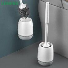 Kit de brosses de toilette   Porte-brosse de toilette, kit de brosses de nettoyage de toilettes, Design moderne mis à niveau avec poils souples, salle de bain