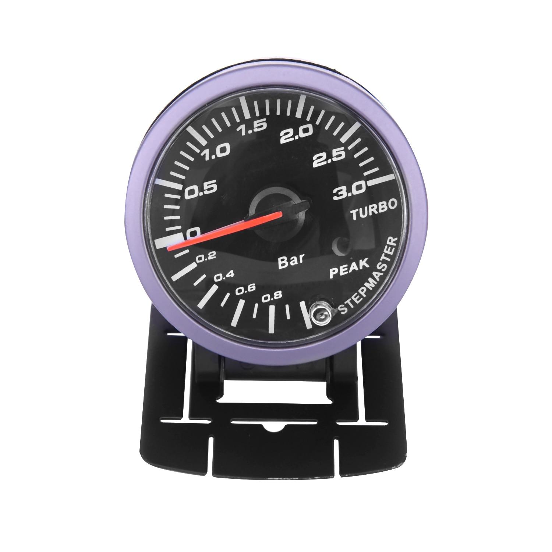 60mm Auto Car Turbo Boost Vacuum Pressure Gauge Meter  7pcs/set LED Light