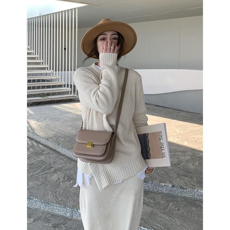 Bolsa de Moda Bolsa de Ombro Único para as Mulheres Nova Pequena Sqaure Bolsa Requintado Feminino Crossbody 2021