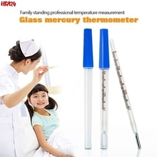 1Pc Glass Thermometer Medical Household Oral Thermometer Armpit  Body Temperature Mercury Wen Large