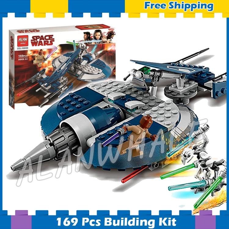 169 piezas espacio guerras del General Grievous contra Speeder clon aventuras MODELO DE 10902 bloques de construcción Compatible con ladrillos Lego