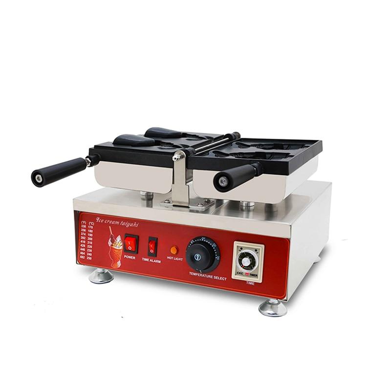 NP-199 máquina Taiyaki máquina eléctrica para hacer gofres en forma de pez 110 v/220 v máquina comercial para hornear panqueques japoneses