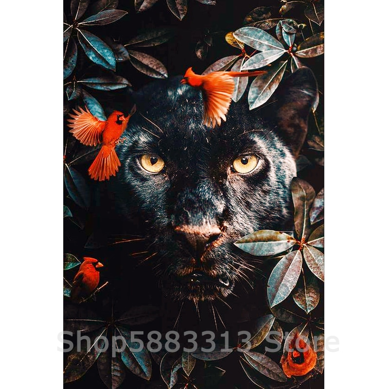 5D DIY Diamond Painting Black Cat Rhinestones Diamond Dotz Embroidery Mosaic Kits Decoration/Souvenir Gifts