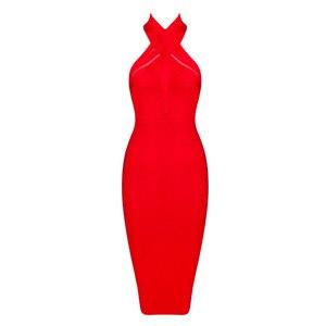 2021 New Bandage Dress Sleeveless Summer Fashion Women Mini Dress Party Celebrity Bodycon Solid Halter Female Women Dresses