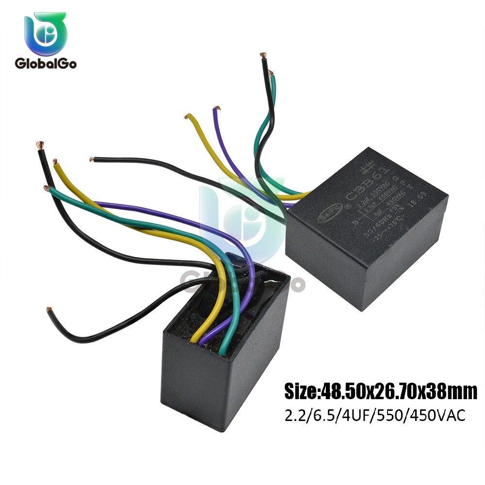 CBB61 AC Motor Starting Capacitance 250V 300V 450V 500 550VAC AC Fan Capacitor 1 1.2 1.5UF 2 2.5UF 3UF 3.5UF 4 4.2uf 10 12UF