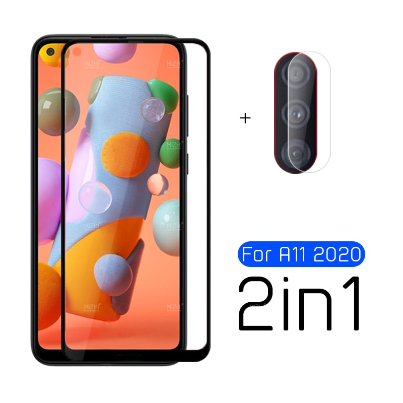 2 in 1 protective glass for samsung galaxy a11 camera screen protector on sumsung a 11 11a a215f a21