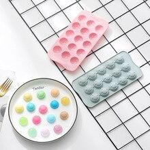15 molde de silicona de expresión cara sonriente de rejilla DIY chocolate gominola caramelo QQ dulce torta de hielo cubo molde Decoración Para horneado torta herramienta