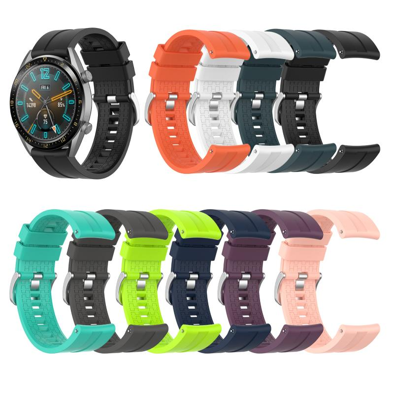 Applicable To Huawei Watch GT 46mm Official Silicone Strap Universal Display Width 22MM Watch Wearable Devices Smart Accessories