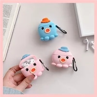 cute cartoon little octopus for airpods case silicone cover for airpods pro 3 2 1 cute earphone 3d headphone cases protective