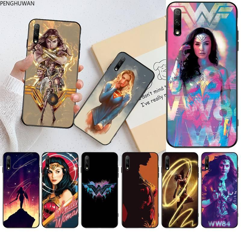 Wonder Woman 1984 Black TPU Soft Phone Case Cover For Huawei Nova 6se 7 7pro 7se honor 7A 8A 7C Prime2019