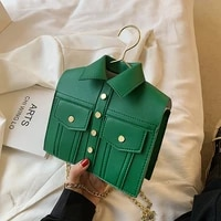 new coat design shoulder bags for women chains clothes shaped crossboby bags hanger funny purse for women 2021 handbag tote