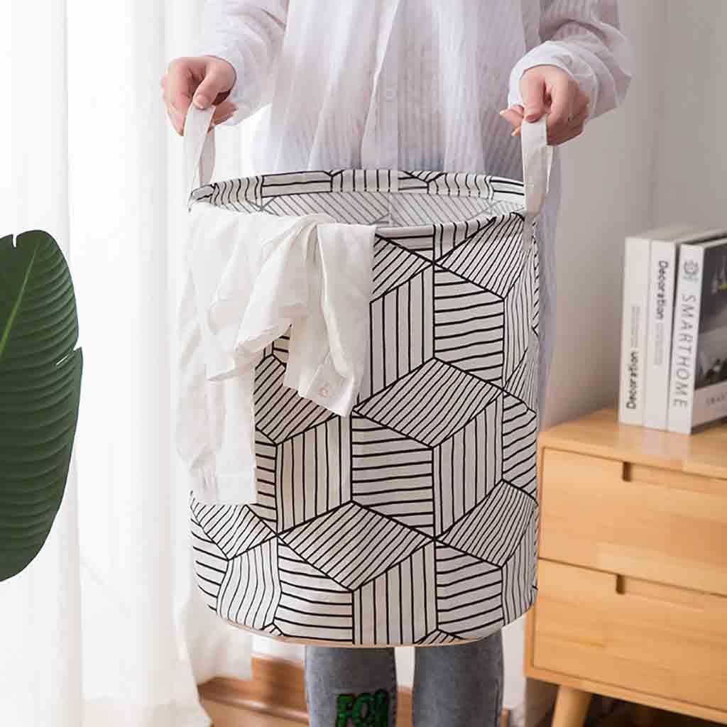 1 cesta de la ropa plegable bolsa de almacenamiento redonda cesta grande ropa plegable estante para juguetes bolsa de almacenamiento de barril cesta de gran capacidad
