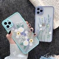iphone case luxury 3d relief flower case for iphone 12 11 pro max x xr xs max 78 plus soft bumper transparent matte pc back cove