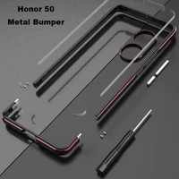 metal bumper frame for honor 50 case aluminum dual color luxury metal phone cover carmera protector accessories honor 50