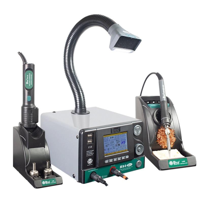 CXG DES H93 لتنقية الهواء لحام محطة مسدس هواء ساخن الذكية عالية التردد سبيكة لحام كهربائي تمتص الغازات السامة 3 في 1