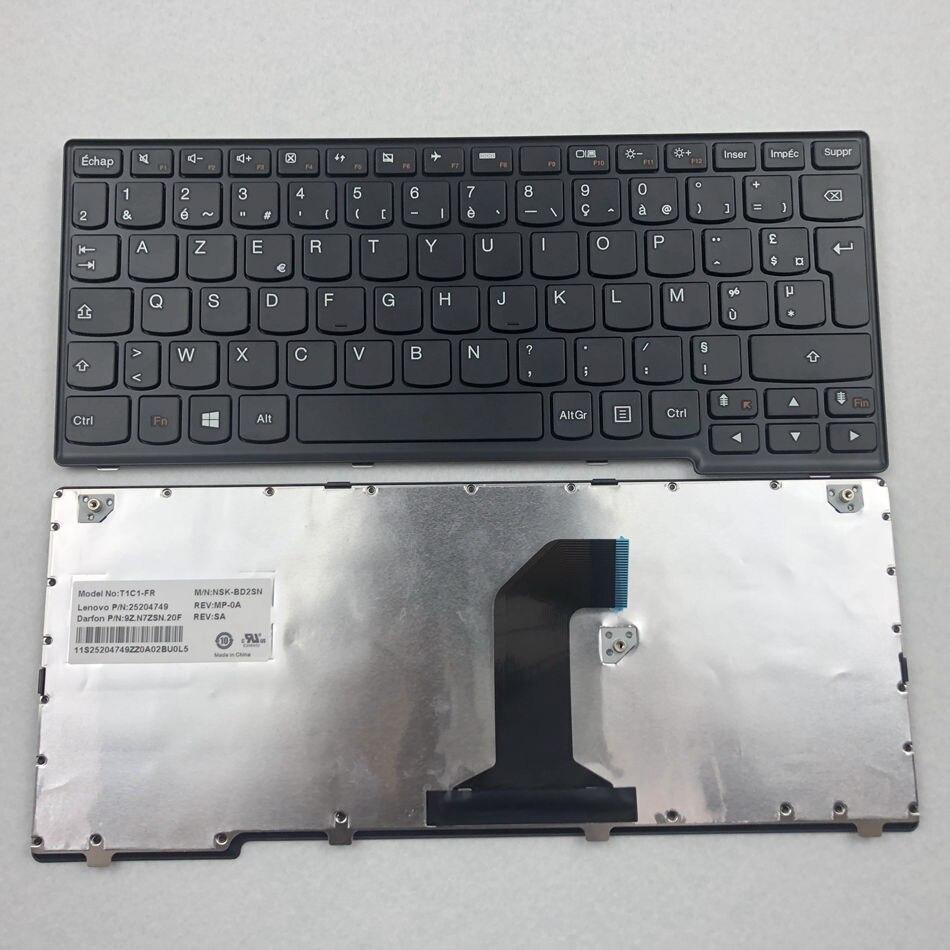 Teclado francés para portátil para Lenovo IdeaPad Yoga 11 11-TTH con marco negro diseño FR Azerty