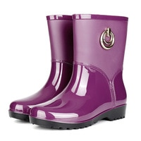 Rain Boots Women Short Tube Rain Shoes Adult Water Boots Anti-skid Water Shoes Jelly Rubber Shoes Rain Boots rtg5