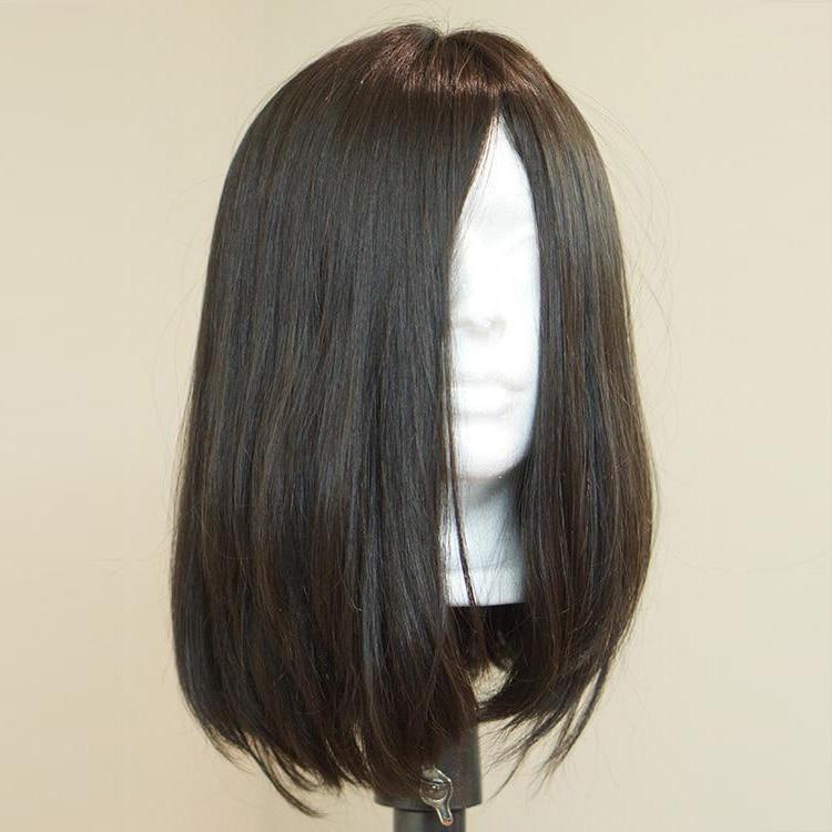 Natural Skin Top Jewish Wig Silky Straight Bob Style European Virgin Human Hair Sheitels Kosher Wig Natural Color