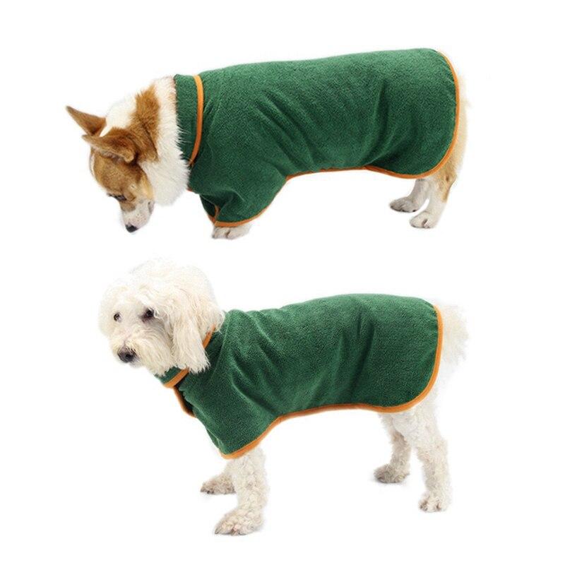 Novo roupão de cachorro XS-XL pet cão toalha de banho para pequeno médio grande cães microfibra super absorvente pet toalha de secagem