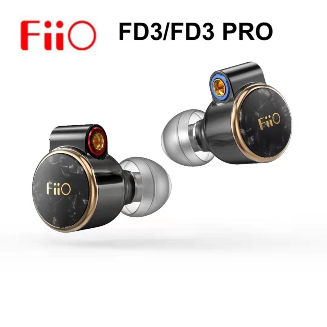 FiiO FD3 / FD3 برو 1DD HiFi الصوت في الأذن سماعة رصد سماعات IEM 12 مللي متر DLC السلكية مرحبا الدقة انفصال MMCX كابل دون هيئة التصنيع العسكري