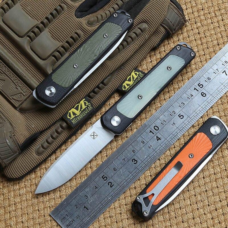 DICORIA mi ni YX-622 cuchillo plegable rodamiento de bolas 14C28N blade G10 mango camping caza al aire libre cuchillos de bolsillo suvival herramientas EDC