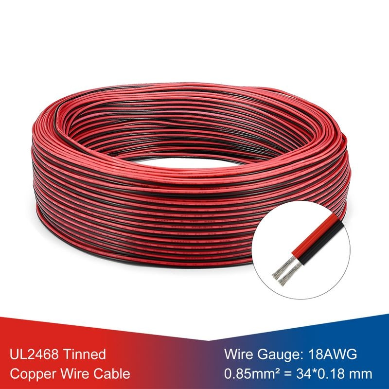 Cable de calibre 18 DE 5 rollos, conector UL2468 SM JST de...